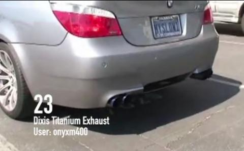 Vídeo: recopilación del sonido de 59 escapes en el BMW M5