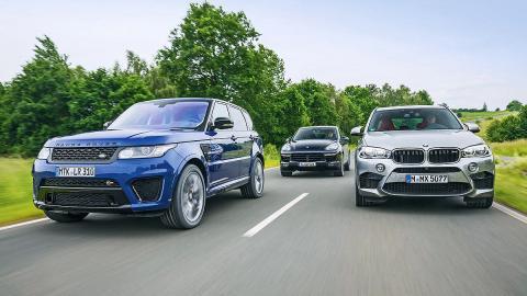 Comparativa: BMW X5 M/Ranger Rover Sport SVR/Cayenne Turbo S