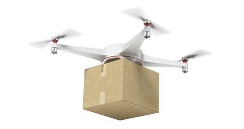 El dron que entrega el pan por el aire... en España