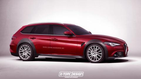 Así podría ser el Alfa Romeo Giulia Crosswagon