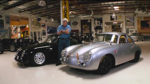 Jay Leno recibe la visita de dos Porsche 356 'Outlaws'