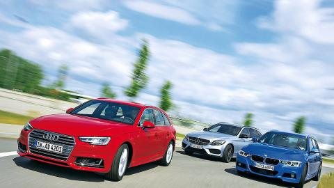 BMW Serie 3 Touring vs. Audi A4 Avant vs. Mercedes C Estate