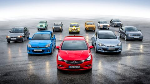 11 generaciones Opel Kadett y Astra