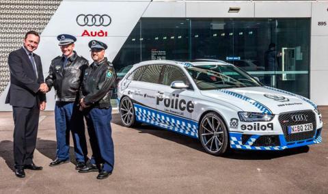 La Policía de Australia estrena un Audi RS 4 Avant