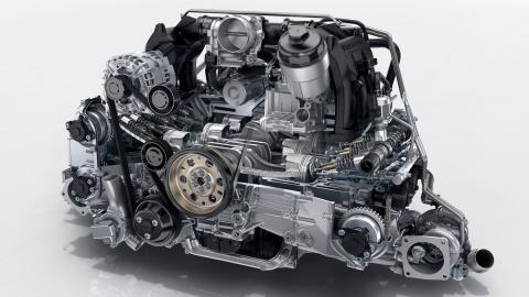 motor porsche 911 carrera 2016