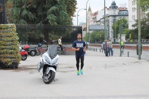 Running en el Retiro, lo mejor es llegar con tu KYMCO
