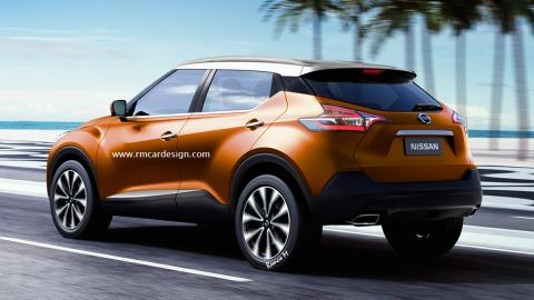 nuevo Nissan Juke trasera render