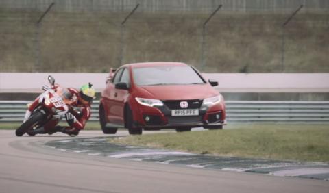 Sueño húmedo: Honda Civic Type R contra CBR1000RR Fireblade