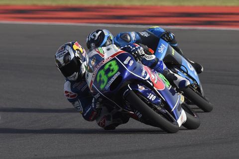 Libres Moto3 Aragon 2015: Bastianini mete miedo a Kent