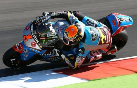 Libres Moto2 Aragon 2015: Rabat no quiere alirón