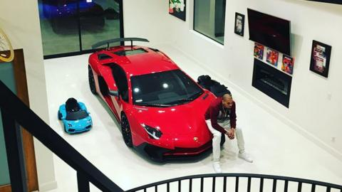 Chris Brown Lamborghini Aventador SV