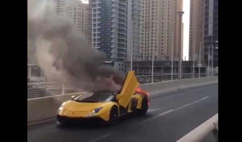 Por qué el 'Lambo' Aventador 50 Aniversario ardió en Dubai