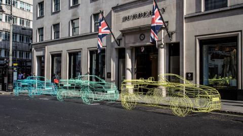 esculturas de alambre range rover evoque