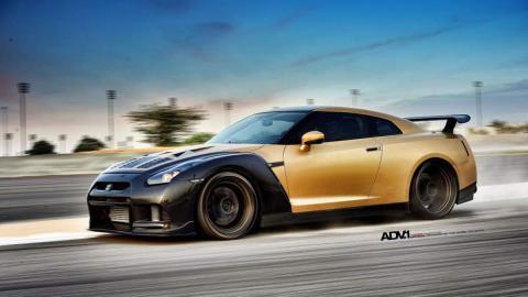 Nissan GT-R ADV-1 dorado AMS