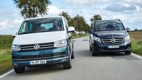 Volkswagen T6 vs Mercedes Clase V