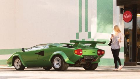 Lamborghini Countach LP400 S Verde trasera