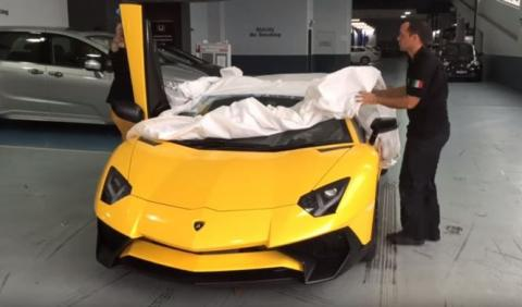 Así se entrega un Lamborghini Aventador SV