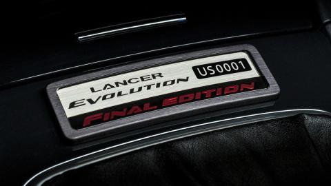 Mitsubishi Lancer Evo Final Edition placa