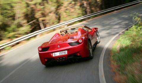 Ferrari 458 Spider trasera