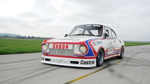 Skoda 130 RS en marcha