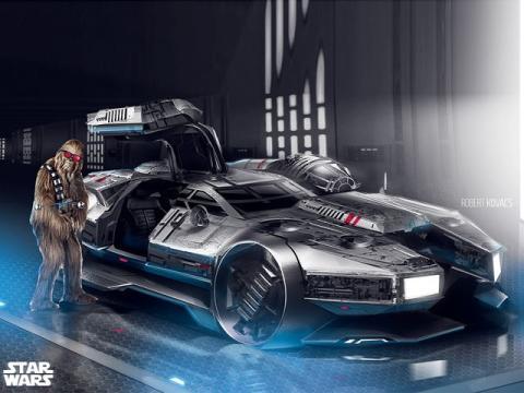Así sería el Halcón Milenario de Star Wars en coche