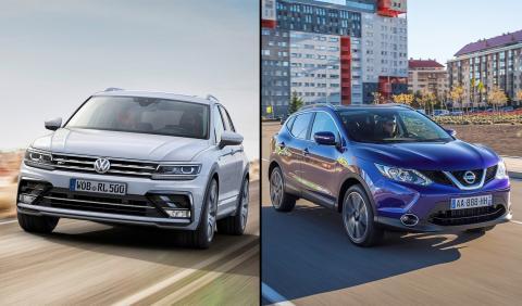 ¿Cuál es mejor, el Nissan Qashqai o el Volkswagen Tiguan?