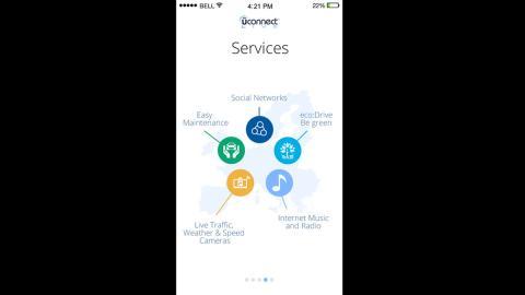 Servicios que la app Uconnect Live