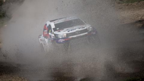 Dakar 2016. Coches, Etapa 1: cancelada por la lluvia
