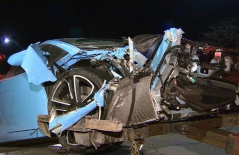 Un Lamborghini Gallardo termina destrozado en Canadá