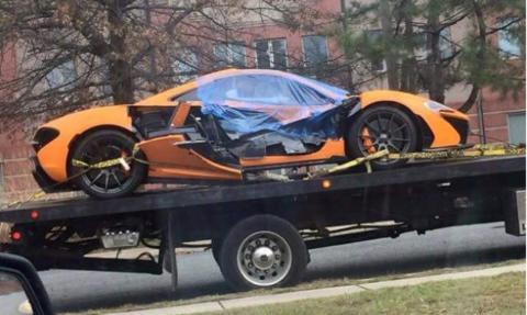 Así queda un McLaren P1 siniestrado