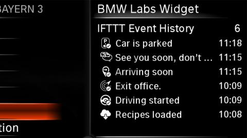 widget sistema bmw connecteddrive