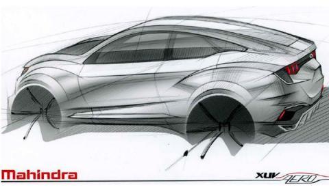 El Mahindra XUV Aero es un SUV coupé