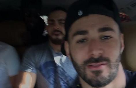 Vídeo: Benzema vuelve a liarla con el coche...