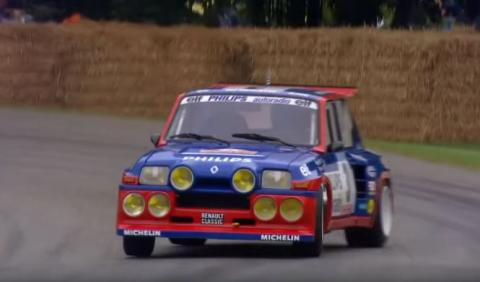 Jean Ragnotti a los mandos del Renault 5 Maxi Turbo