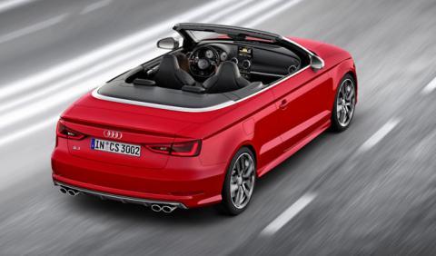 El Audi S3 Cabrio facelift, cazado con su nueva parrilla