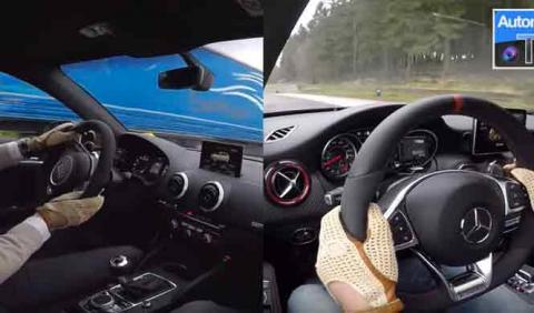 Mercedes-AMG A45 2016 vs Audi RS3. 'Fight'!