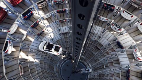 aparcamiento robot de Volskwagen