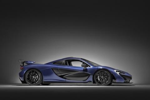 McLaren P1 de fibra de carbono lateral