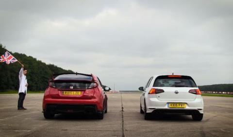 Drag Race: Volkswagen Golf R vs Honda Civic Type R