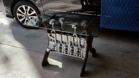 mesa cafe bloque motor bmw