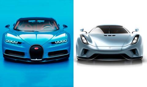 Bugatti Chiron o Koenigsegg Regera, ¿cuál es mejor?