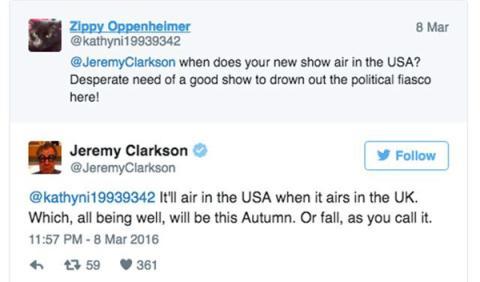 Tweet de Jeremy Clarkson
