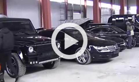 La colección de coches del hijo del expresidente de Ucrania