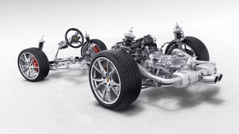 Porsche 718 Boxster vista interna total