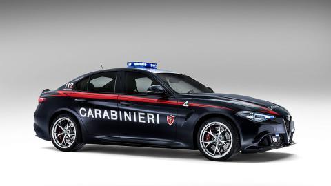 El Alfa Romeo Giulia QV de los carabinieri, en fotos