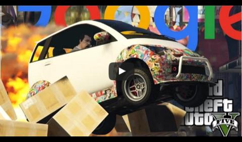 El coche autónomo de Google está en GTA V, y ha de mejorar