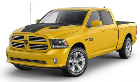 Ram 1500 Stinger Yellow Sport, un pick up con estilo racing