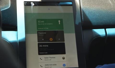 Google monta Android Auto en un Maserati Ghibli