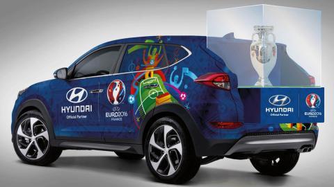 El Hyundai Tucson que transportará el trofeo de la Eurocopa