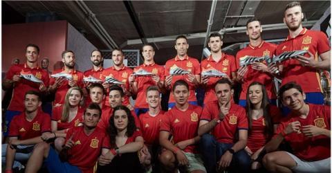 Algunos de los jugadores de la Selección Española